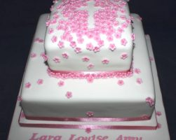 Flower cross cake